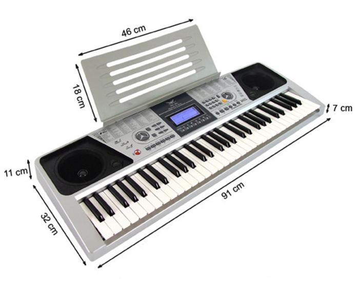 Orga electronica profesionala cu 61 de clape si 5 octave,Angelet XTS 661 2