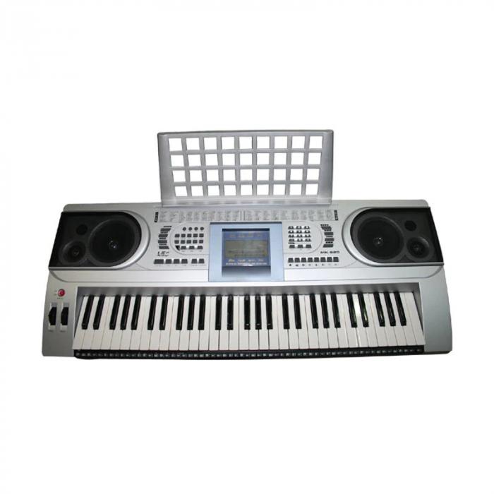 Orga electronica semiprofesionala cu 61 de clape MK-920,LCD, 100 timbre, 100 ritmuri, 6 melodii demo, boxe incorporate [1]