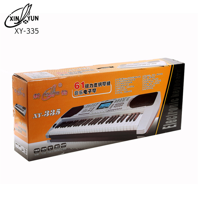 Orga profesionala electronica XY-335, 61 clape cu port USB MP3 Player si interfata Midi 2