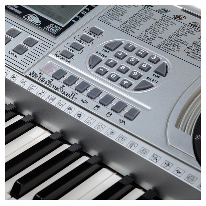 Orga profesionala electronica XY-335, 61 clape cu port USB MP3 Player si interfata Midi 1