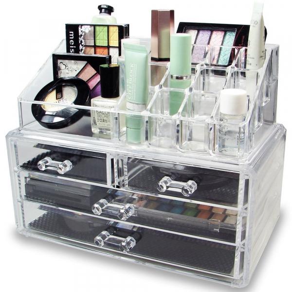 Organizator de cosmetice din acril transparent 0