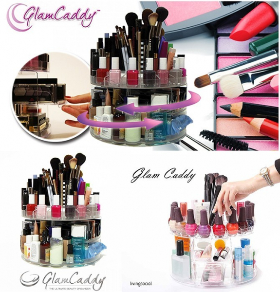 Organizator de cosmetice Glam Caddy Rotating Organizer 0