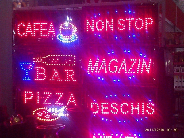 Panou luminos cu leduri  Pizza 0
