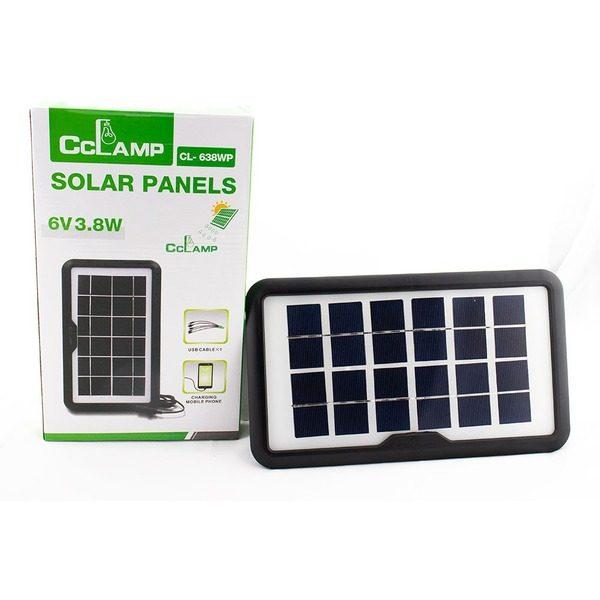 Panou solar portabil pentru incarcare dispozitive cu intrare USB CL-638WP 6V 3.8W 0
