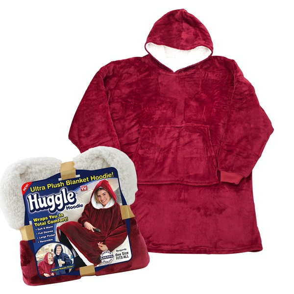Patura cu maneci stil hanorac si gluga Huggle Hoodie 2