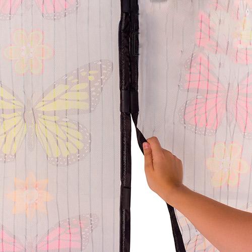 Perdea magnetica anti-insecte model colorat cu fluturi [1]