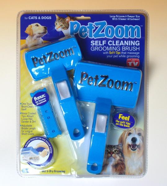 Perie dubla profesionala pentru animale PET ZOOM 1