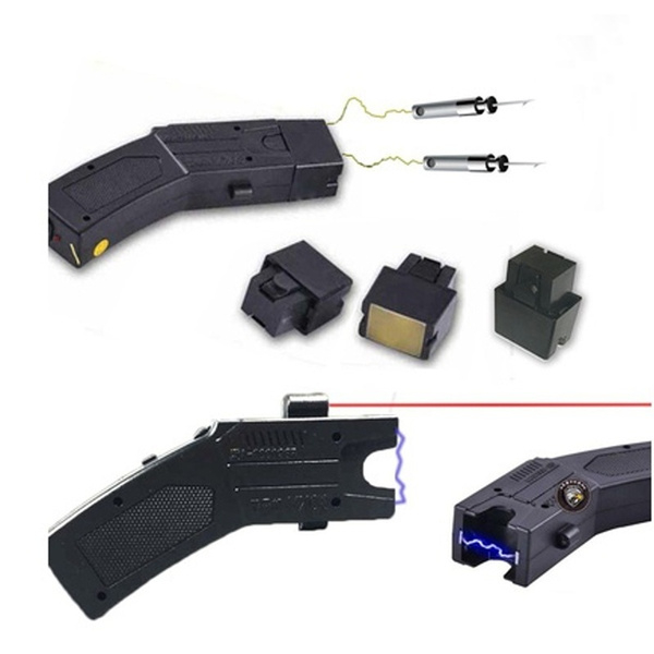 Pistol taser cu electrosoc si 3 rezerve cartuse 1