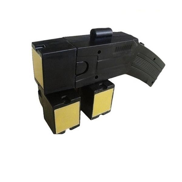 Pistol taser cu electrosoc si 3 rezerve cartuse 4