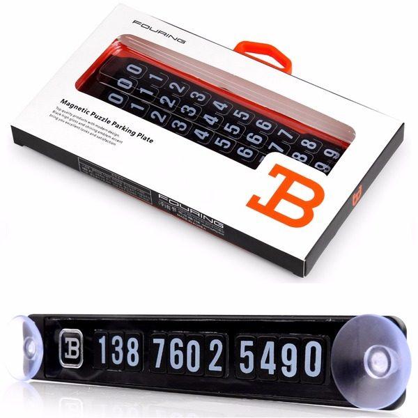 Placuta magnetica afisare numar telefon pentru autoturism [0]