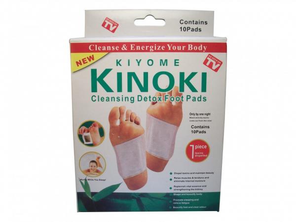 Plasturi detoxifianti pentru talpi, 10 bucati, Kiyome Kinoky 0