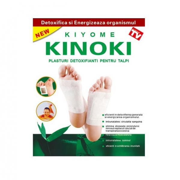 Plasturi detoxifianti pentru talpi, 10 bucati, Kiyome Kinoky 2