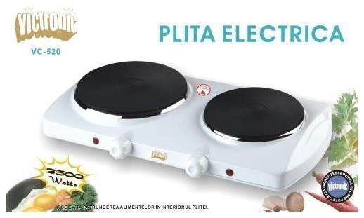 Plita electrica dubla Victronic VC520, 2500W 0