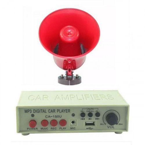 Portavoce-megafon auto 12V cu MP3 inregistrare si slot USB 0