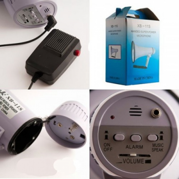 Portavoce portabila tip megafon cu microfon extern, XB-11S [1]