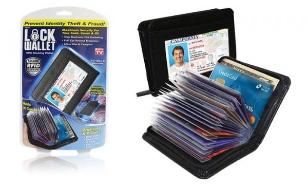 Portofel anti scanare carduri Lock Wallet, 36 carduri 0