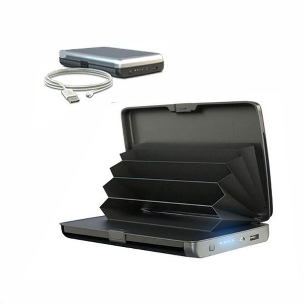 Portofel securizat cu baterie externa 2 in 1 E-Charge Wallet 1
