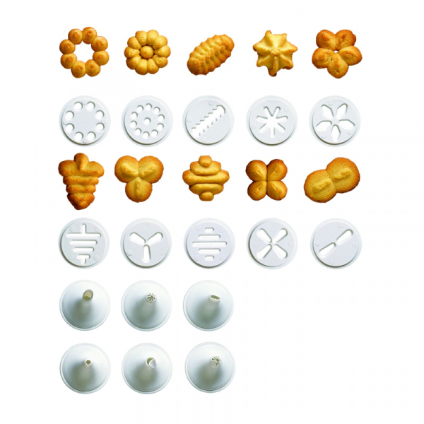 Presa pentru biscuiti si fursecuri cu 20 forme Grunberg GR10714 2