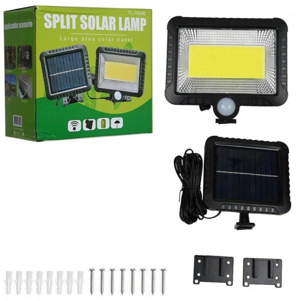 Proiector 10W COB LED cu senzor de miscare si panou solar individual 1