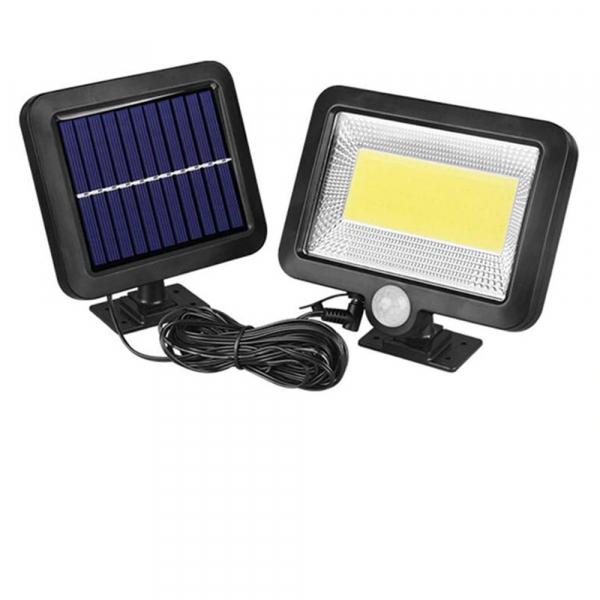 Proiector 10W COB LED cu senzor de miscare si panou solar individual 0