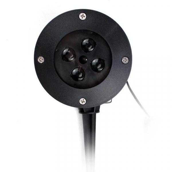 Proiector exterior metalic cu LED RGB si  joc fulgi albi de zapada IP65 3