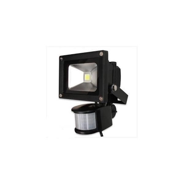 Proiector metalic cu LED de 10W si senzor miscare cu lumina alba rece 1