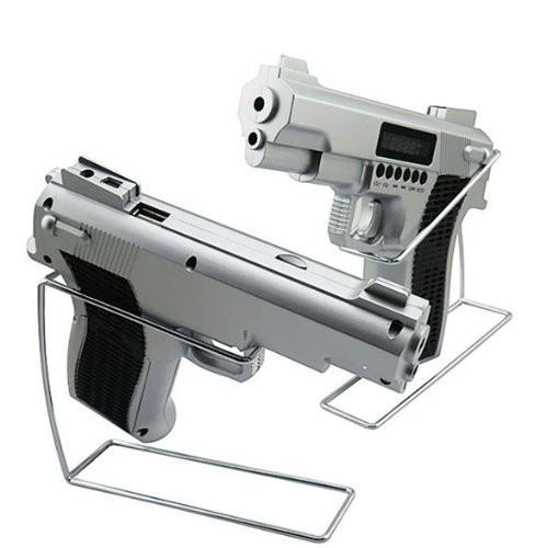 Radio si mp3 in cu slot de card si acumulator forma de pistol 0