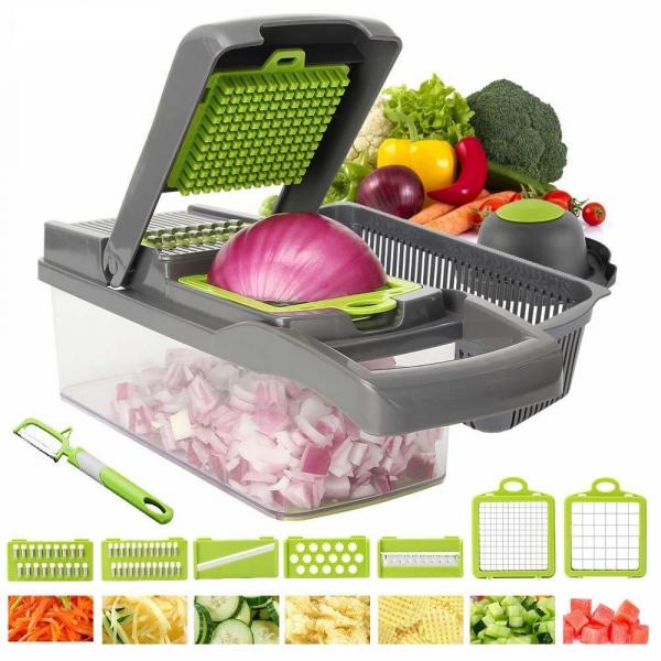 Razatoare multifunctionala pentru legume cu 7 accesorii interschimbabile [1]