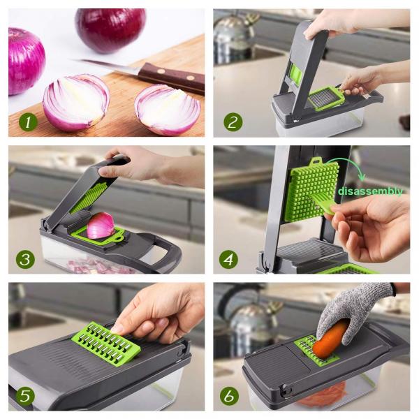 Razatoare multifunctionala pentru legume cu 7 accesorii interschimbabile [2]