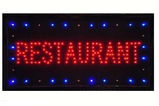 Reclama luminoasa cu leduri -Restaurant 0