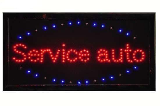 Reclama luminoasa cu leduri Service auto 1