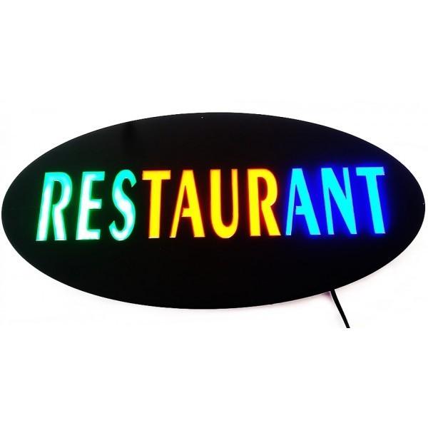 Panou reclama luminoasa, mesaj Restaurant 0