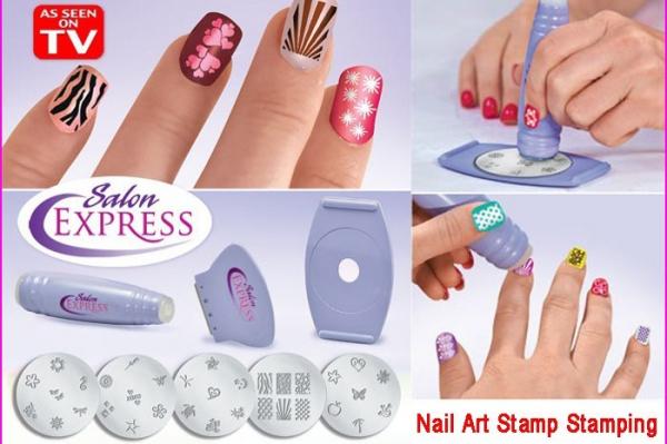 Salon Express Kit de decorarea unghiilor prin stampilare 0
