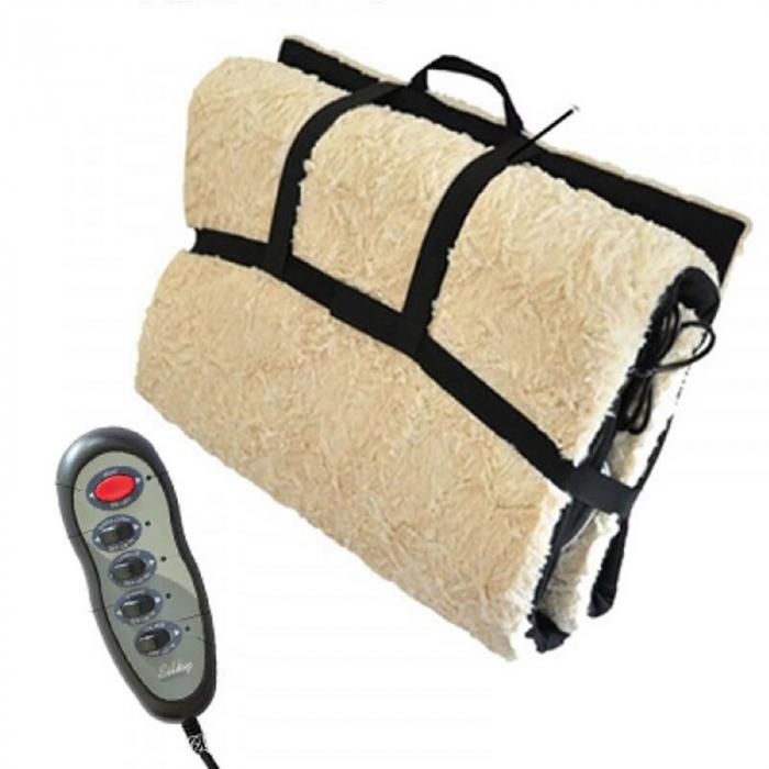 Saltea pentru masaj cu blana si incalzire,telecomanda inclusa 1