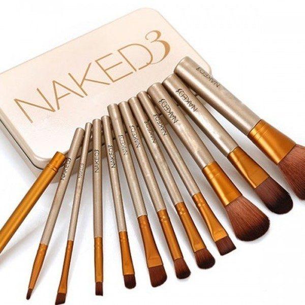 Set 12 pensule profesionale machiaj Naked 3 Urban Decay 0