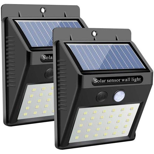 Set 2 Lampi Solare cu 30 LED, inclus senzor de miscare si senzor de lumina [0]