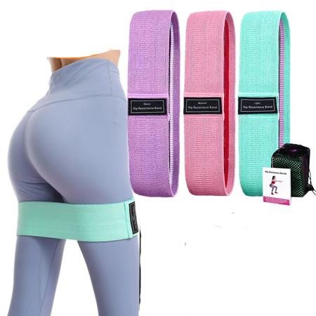 Set 3 benzi elastice cu 3 nivele de rezistenta pentru exercitii de fitness [3]