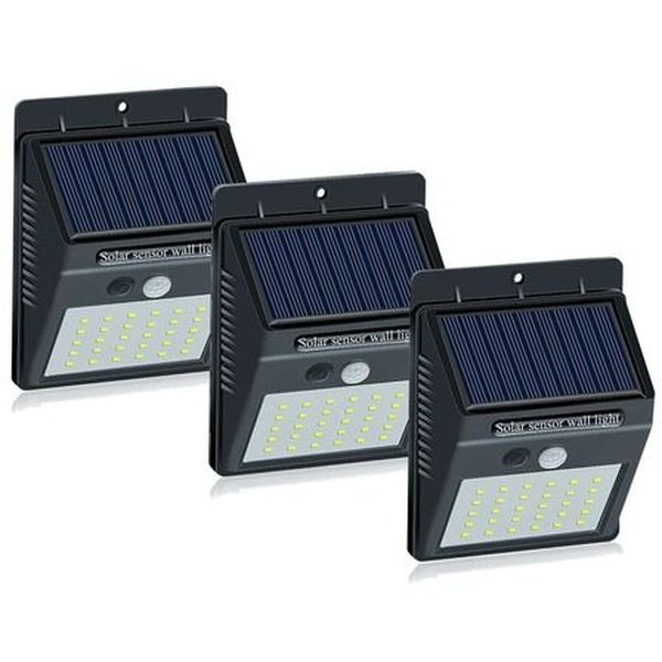 Set 3 Lampi Solare cu 30 LED, senzor de miscare si senzor de lumina [0]