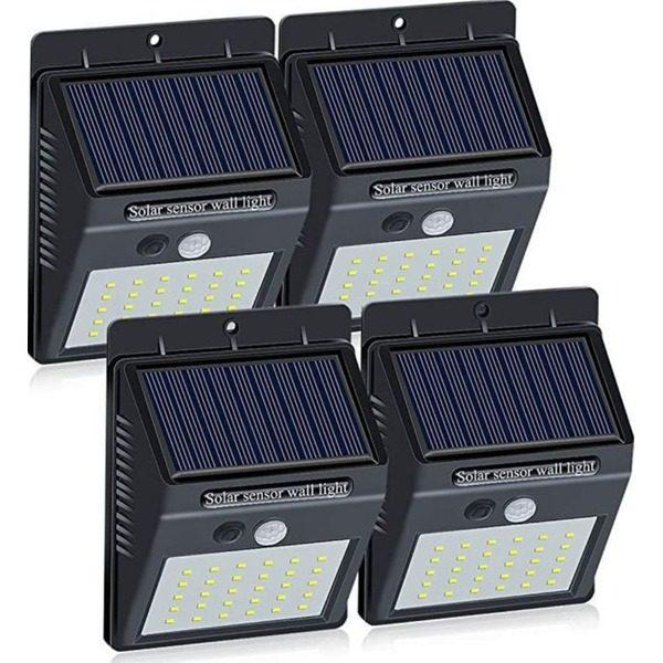 Set 4 lampi solare de perete cu senzor de miscare si lumina cu 30 leduri [0]