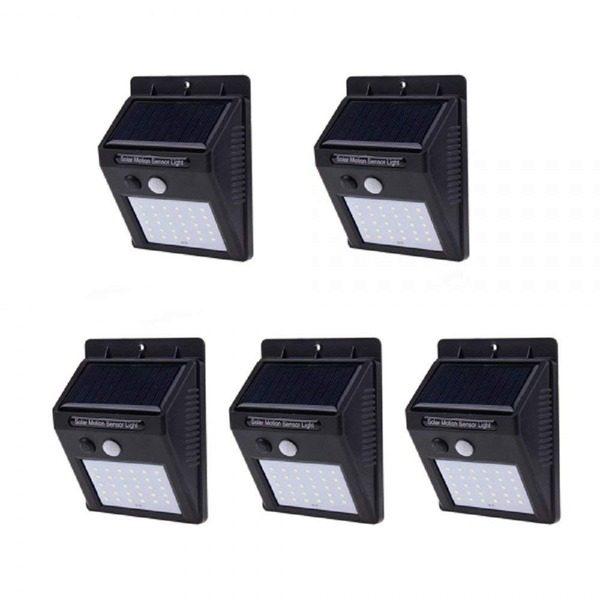Set 5 lampi solare cu 30 LED-uri SMD,senzor de miscare si senzor de lumina 0