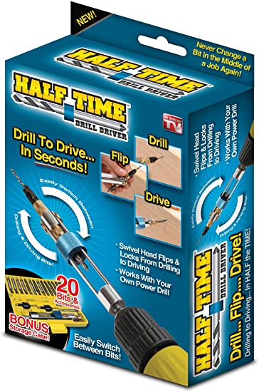 Set biti si adaptor rapid bormasina 20 piese Half Time Drill Driver 2