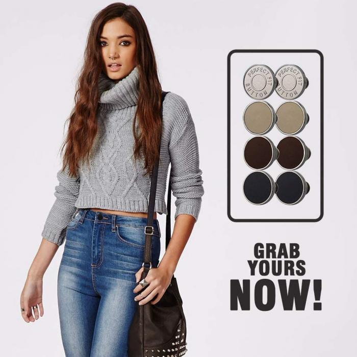 Set capse ajustabile pentru imbracaminte,Perfect Fit Button [3]