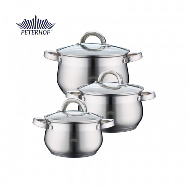 Set cratite de inox cu capac Apollo Peterhof PH-15759 0