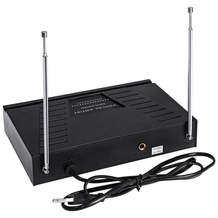 Set 2 microfoane profesionale wireless cu receiver, VHF Weisre WM-03V 4