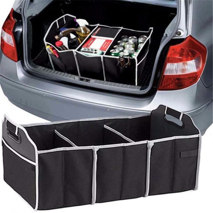 Organizator pentru portbagaj auto cu 3 compartimente 1