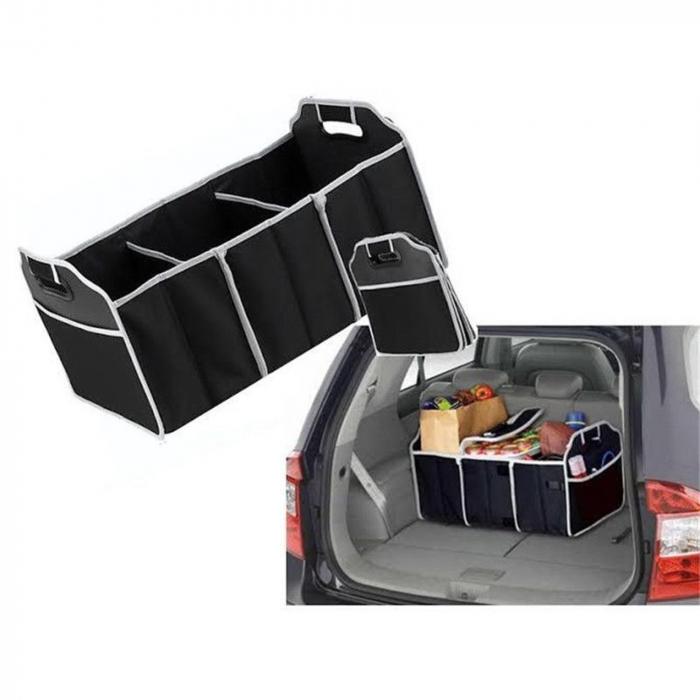 Organizator pentru portbagaj auto cu 3 compartimente 3