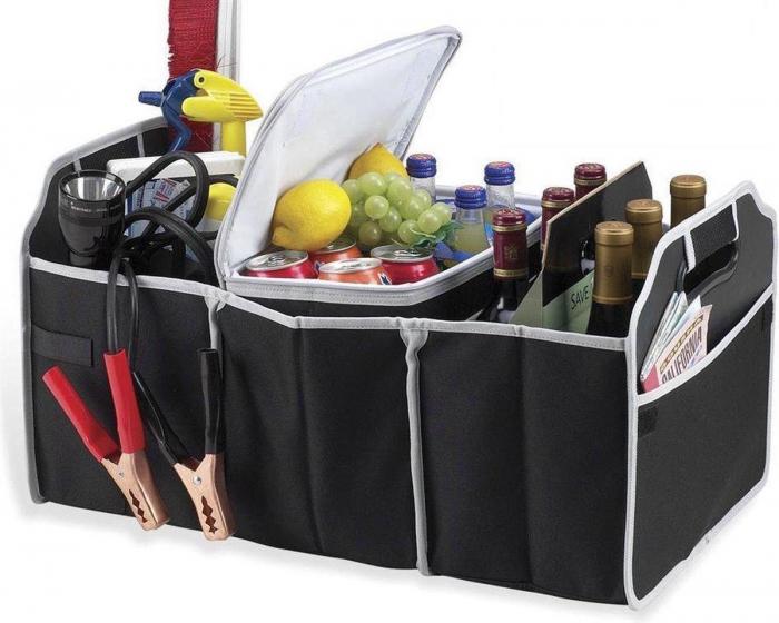 Organizator pentru portbagaj auto cu 3 compartimente 0