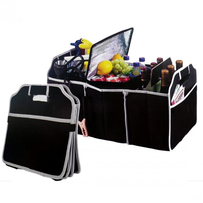 Organizator pentru portbagaj auto cu 3 compartimente 2