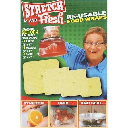 Set 4 folii pentru alimente din silicon reutilizabile, Stretch and Fresh [5]