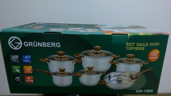 Set de oale din inox Grunberg 12 piese GR-1504 0